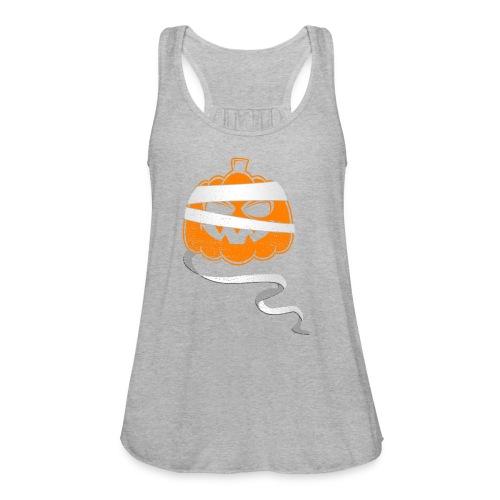 Halloween Bandaged Pumpkin - Women's Flowy Tank Top by Bella