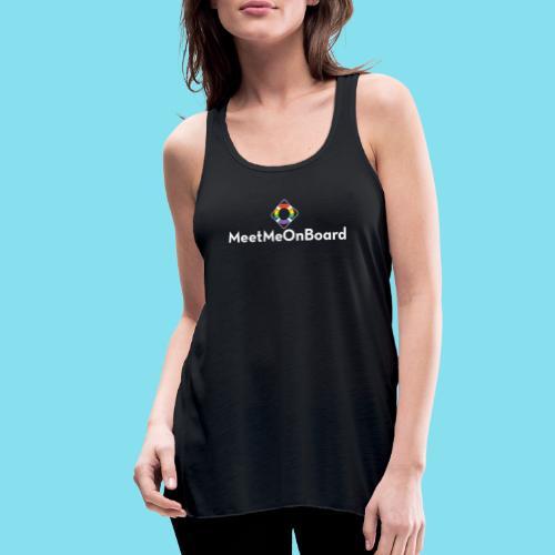 MMOB_logo_vert_whitetype - Women's Flowy Tank Top by Bella