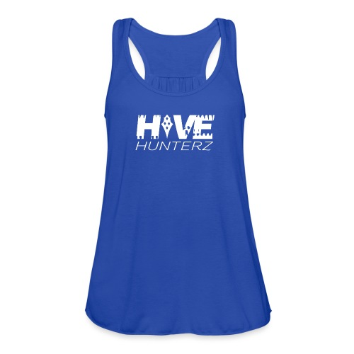 White Hive Hunterz Logo - Women's Flowy Tank Top by Bella