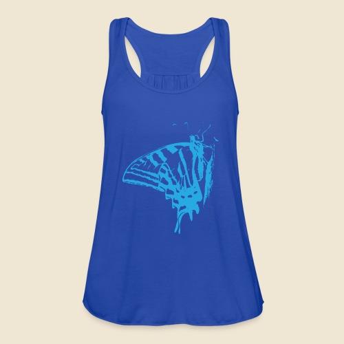 Blue Butterfly - Women's Flowy Tank Top by Bella