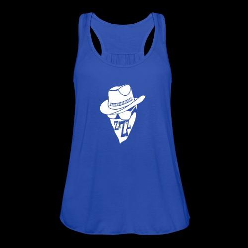 DREAM BANDITS WHITE Large Logo - Women's Flowy Tank Top by Bella