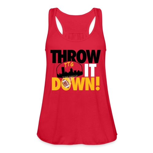 Throw it Down! (Turnover Dunk) - Women's Flowy Tank Top by Bella