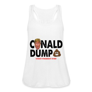 Conald Dump Worst President Ever - Women's Flowy Tank Top by Bella