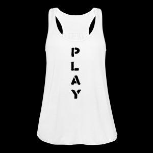 Back Play - Women's Flowy Tank Top by Bella