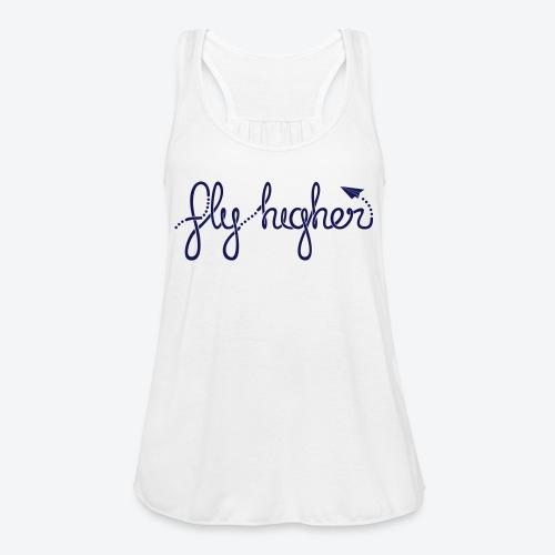 Fly Higher - Navy - Women's Flowy Tank Top by Bella