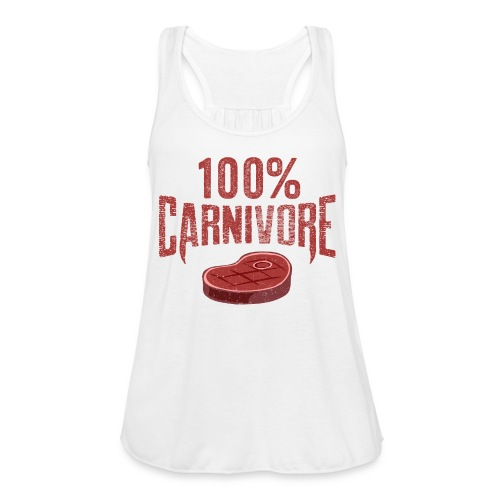 100% Carnivore - Women's Flowy Tank Top by Bella