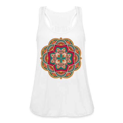 Yoga Mandala Design Shirt & Accessories - Women's Flowy Tank Top by Bella