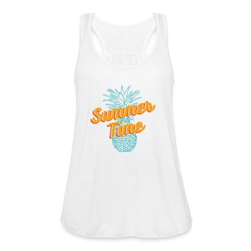 Summer time Pineapple T-shirt - Women's Flowy Tank Top by Bella