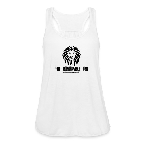 Lion: The Honorable One (Black) - Women's Flowy Tank Top by Bella