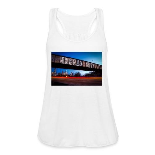 Husttle City Bridge - Women's Flowy Tank Top by Bella