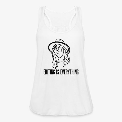 Editing Is Everything NEW LOGO - Women's Flowy Tank Top by Bella
