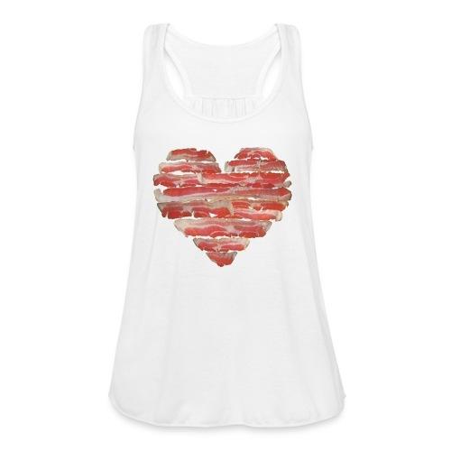 BACON = LOVE - Women's Flowy Tank Top by Bella