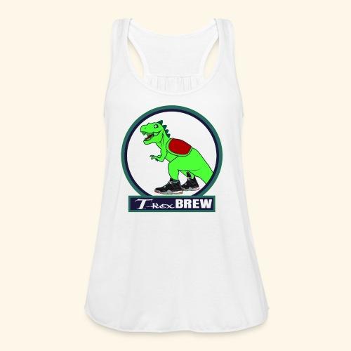T-Rex BEER - Women's Flowy Tank Top by Bella