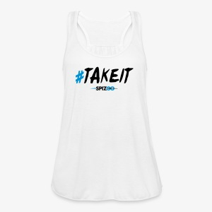 #takeit white - Spizoo Hashtags - Women's Flowy Tank Top by Bella