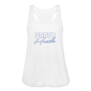 PROTO HUSTLE LOGO BLUE - Women's Flowy Tank Top by Bella