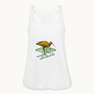 BIRDER - White-faced ibis - Carolyn Sandstrom - Women's Flowy Tank Top by Bella