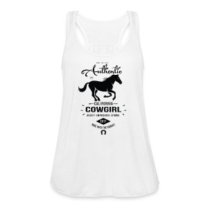 Authentic California Cowgirl Design - Women's Flowy Tank Top by Bella