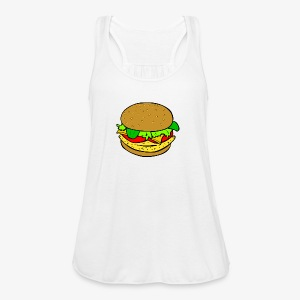 Comic Burger - Women's Flowy Tank Top by Bella