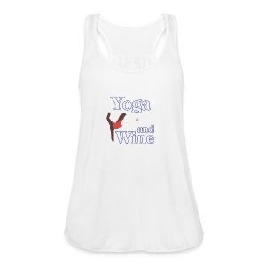 yoga and wine - Women's Flowy Tank Top by Bella