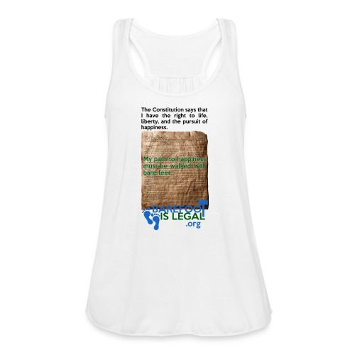 Constitution path to happiness - Women's Flowy Tank Top by Bella