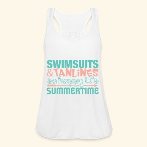 Swimsuits and Tanlines - Women's Flowy Tank Top by Bella