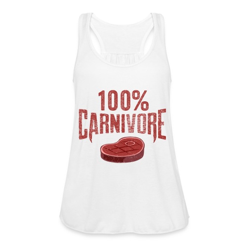 100% Carnivore - Women's Flowy Tank Top by Bella