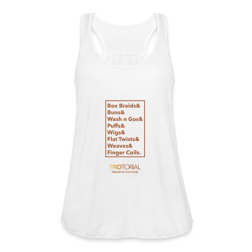 Natural Hair Styles - Women's Flowy Tank Top by Bella