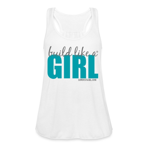 blag turquise png - Women's Flowy Tank Top by Bella