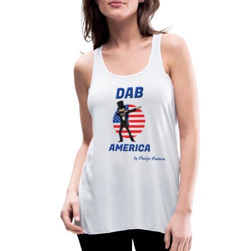 DAB AMERICA BLUE - Women's Flowy Tank Top by Bella