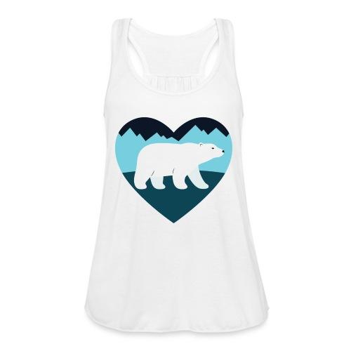 Polar Bear Love - Women's Flowy Tank Top by Bella