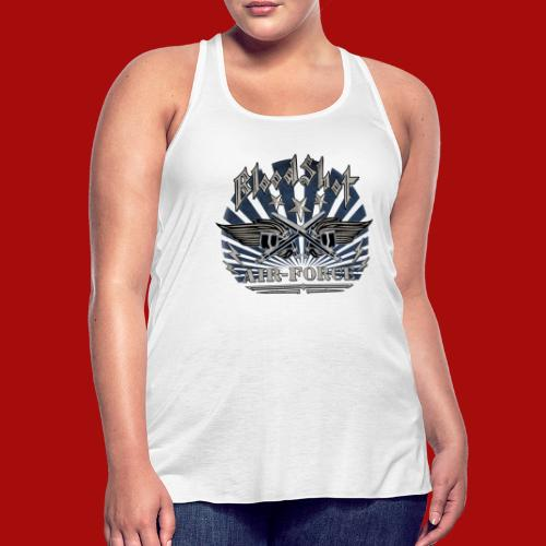 BloodShot Air Force with black - Women's Flowy Tank Top by Bella