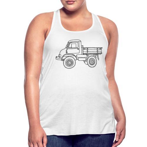 Off-road truck, transporter - Women's Flowy Tank Top by Bella