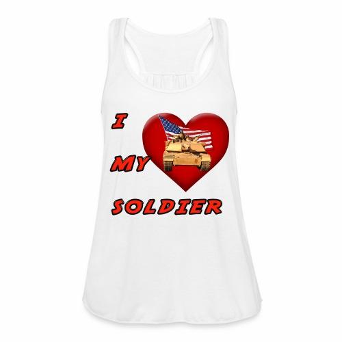 I Heart my Soldier - Women's Flowy Tank Top by Bella