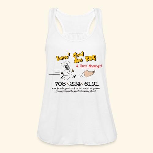 Jones Good Ass BBQ and Foot Massage logo - Women's Flowy Tank Top by Bella