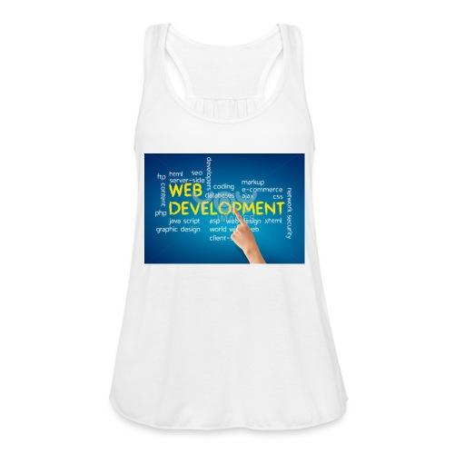 web development design - Women's Flowy Tank Top by Bella