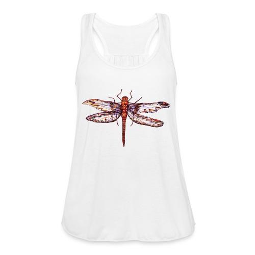 Dragonfly red - Women's Flowy Tank Top by Bella