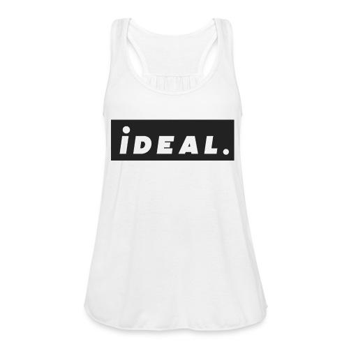 black ideal classic logo - Women's Flowy Tank Top by Bella