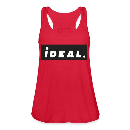 black ideal classic logo - Women's Flowy Tank Top by Bella