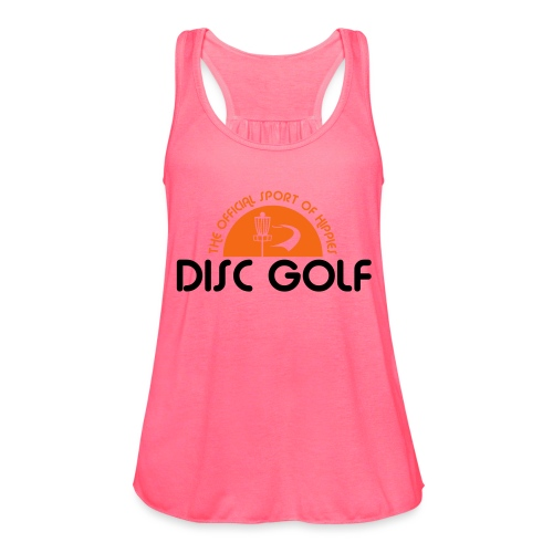 Disc Golf Official Sport of Hippies - Women's Flowy Tank Top by Bella