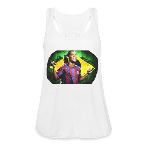 Ronaldinho Brazil/Barca print - Women's Flowy Tank Top by Bella