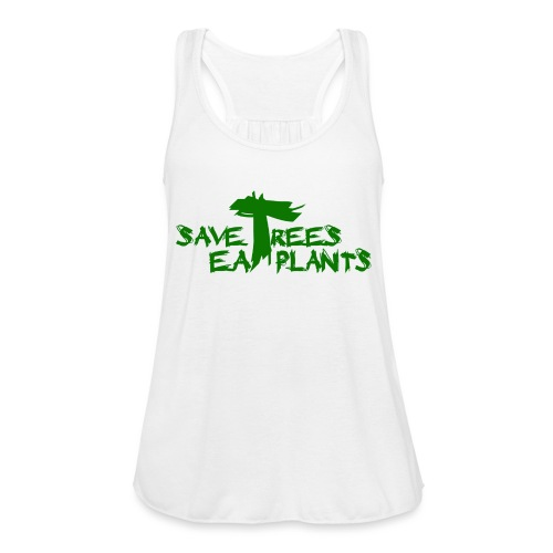 Eat plants, green - Women's Flowy Tank Top by Bella