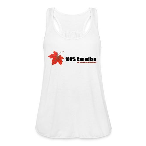 100% Canadian - Women's Flowy Tank Top by Bella