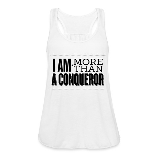 I Am More Than a Conquereor by Shelly Shelton - Women's Flowy Tank Top by Bella