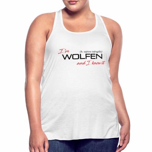 Wolfen Attitude on Light - Women's Flowy Tank Top by Bella