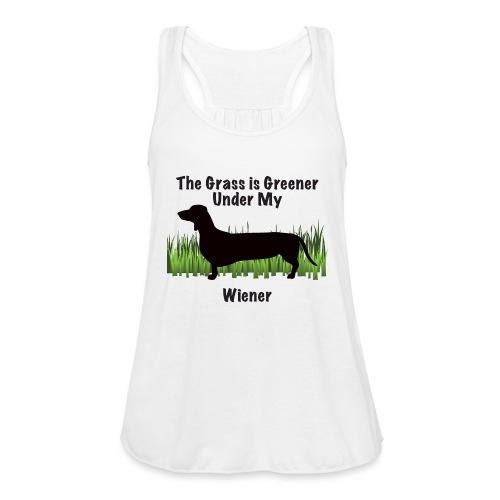 Wiener Greener Dachshund - Women's Flowy Tank Top by Bella