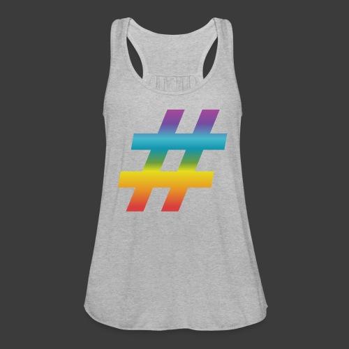 Rainbow Include Hash - Women's Flowy Tank Top by Bella