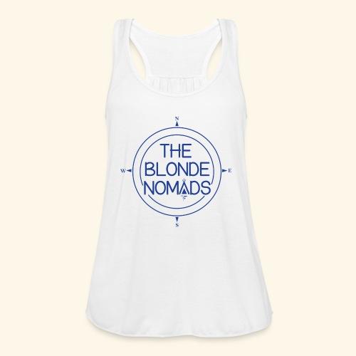 The Blonde Nomads Blue Logo - Women's Flowy Tank Top by Bella