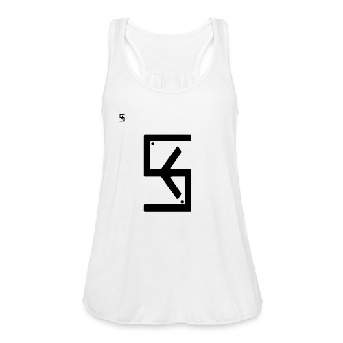 Soft Kore Logo Black - Women's Flowy Tank Top by Bella