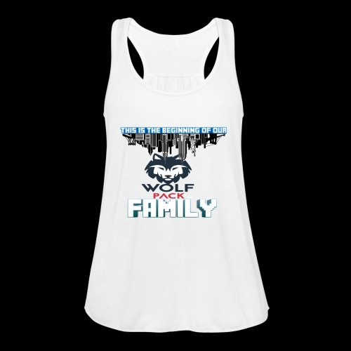 We Are Linked As One Big WolfPack Family - Women's Flowy Tank Top by Bella