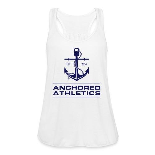 Anchored Athletics Blue Vertical - Women's Flowy Tank Top by Bella